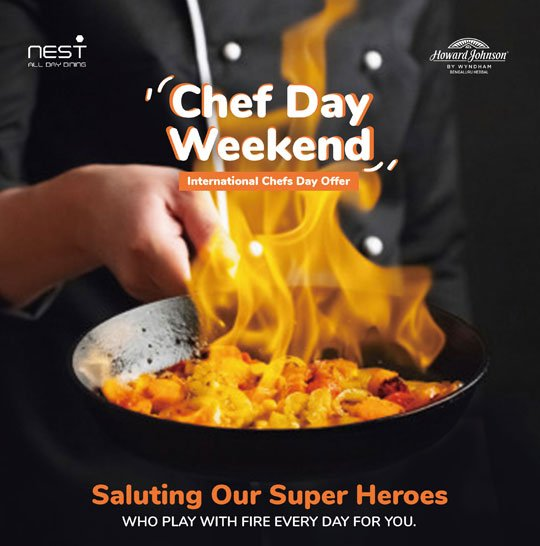 50 pc discount on dining on international chefs day