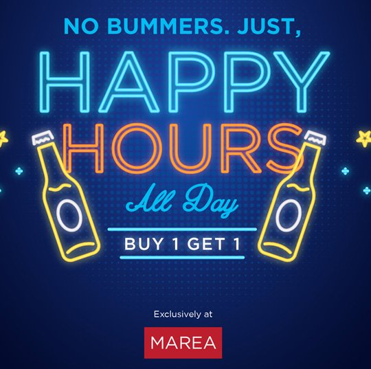 All day Happy hours offer drinks