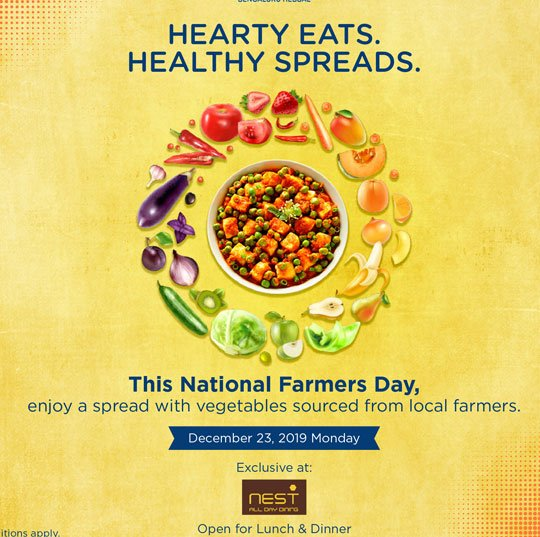 National Farmers Day Kisan Diwas Hearty Meal healthy Meal Offer