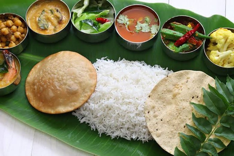 Unity in Diversity - Indian Meal on Banana Leaf