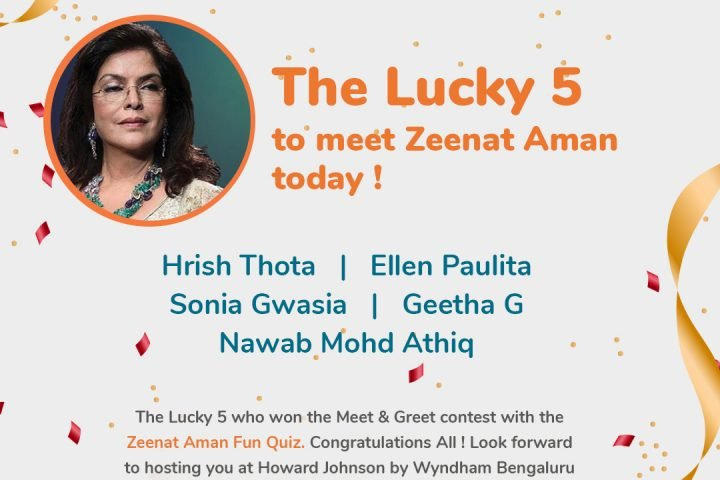 Zeenat-Aman-Quiz-Contest-Winners-Bangalore
