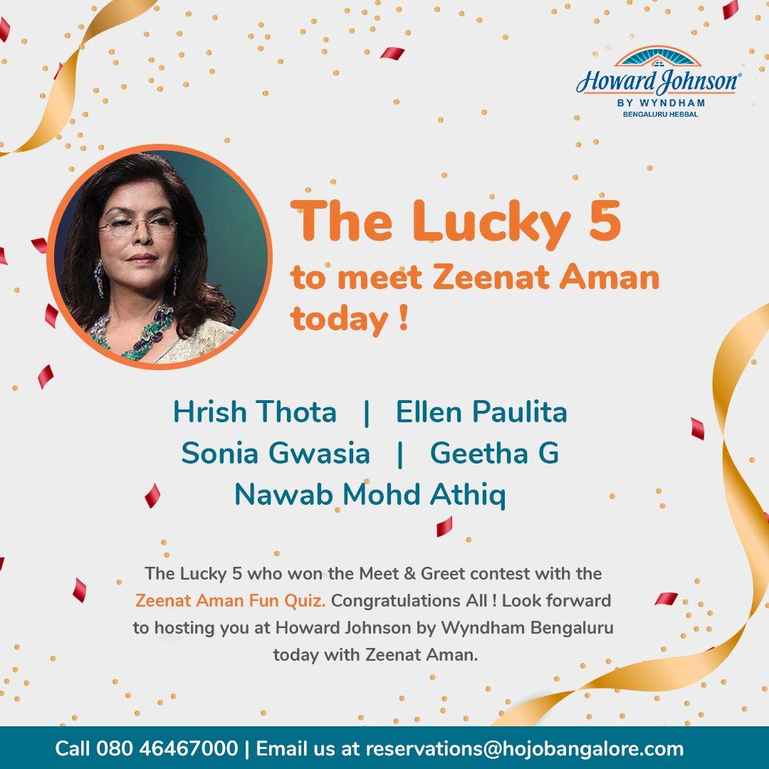 Zeenat Aman Quiz Contest Winners